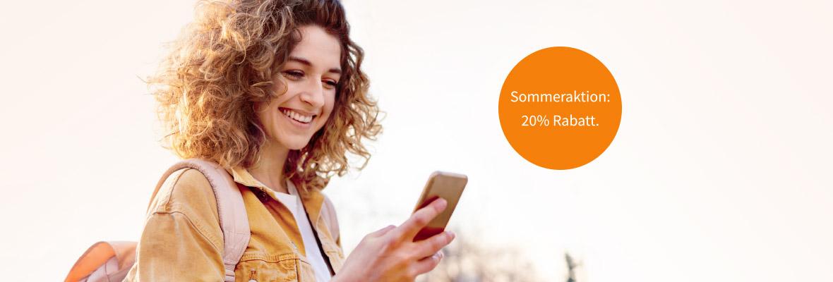 Sommeraktion: 20% Rabatt für Ihre Weiterbildung.