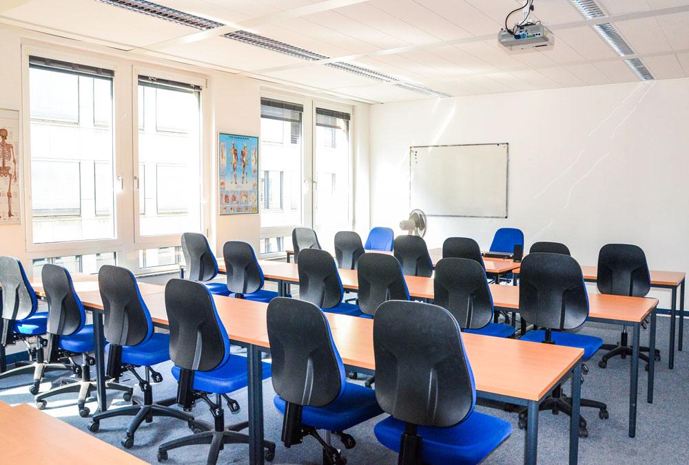 Klassenraum der Schule in Leipzig